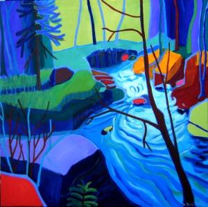 Amunoosuc River by Debra Bretton Robinson