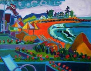 "Storm Brewing, Hampton, NH, 16"" x 20"", acrylics on canvas, $699.00"