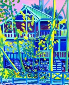 "Massapoag Treehouse, acrylics on canvas, 16"" x 20"", $699.00, Debra Bretton Robinson"