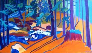 by Debra Bretton robinson, acrylics on canvas, $899.00
