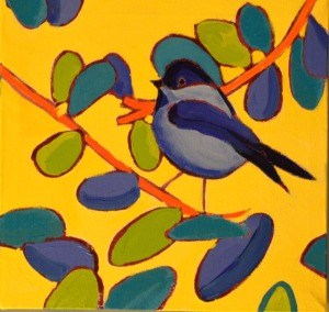 """Black Capped"", acrylics on canvas, 10"" x 10"", $299.00"